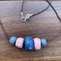 Miss Muted: Handmade Clay Beaded Necklace