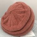 Woman's Beret, 100% Merino Wool, Handspun, Mushroom Pink