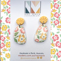 Buttercup Collection - Yellow Floral Pebble Stud Dangle