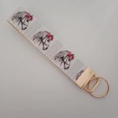 White horse key fob wristlet