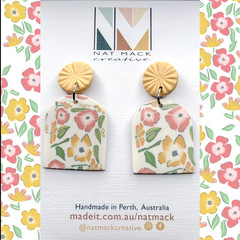 Buttercup Collection - Yellow Floral Arch Stud Dangle