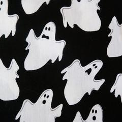 Halloween Ghost Fabric, Price per half metre.