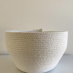 Rope Basket - Plain Stitching
