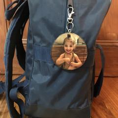Wood Slice Bag Tag, Free Shipping, Personalized Bag Tag, Luggage/School Bag Tag