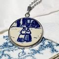 Dutch Delft Blue Couple Pendant