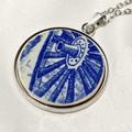 Dutch Delft Blue  Cartwheel Pendant