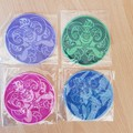 """""""Circle Character"""" Iron-on Badges or Coasters."""