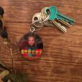 Wood Slice Key Ring, Free Shipping, Custom Key Ring, Pet Key Ring, Pet Keepsake