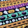 Halloween Fabric, Ghosts, spiders, black cats and more! Price per half metre.
