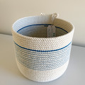 Rope Basket - with Royal Blue stitching (Short)