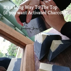 'It's A Long Way To The Top' Activated Charcoal and Plant Mylk  Soap(Unscented)