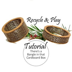 Recycled Paper BANGLE TUTORIAL, Corrugated Cardboard, Simple Pattern