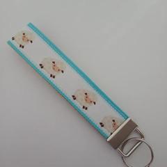 Sheep key fob wristlet
