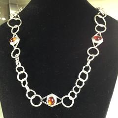 Orange Garnet Necklace.