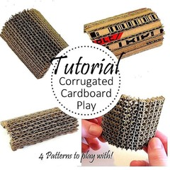 Corrugated Patterns TUTORIAL | Assemblage Parts | Craft DIY