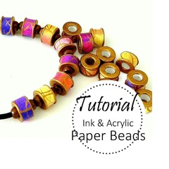Paper Beads TUTORIAL, Ink & Acrylic, DIY Beads, Recycled | Muse Jewl