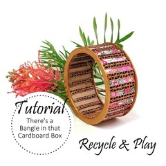 Paper Jewelry, BANGLE TUTORIAL, Collage, Recycled, DIY by Muse Jewl