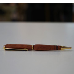 Handmade pen from Red Gum recycled wood, non for profit