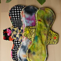 """Set of 3 x 10"""" Moderate exposed core cloth pad (Versodile Moonrise)"""