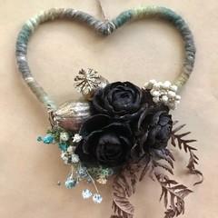 Enchanted forest - Heart floral hoop - Dried flower - 13cm - Natural - Boho