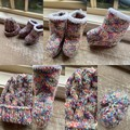 Baby bootie and beanie sets