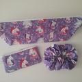 Little Girls  scrunchie lip balm purses