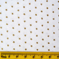White cotton with tiny gold stars - Christmas Cotton Fabric