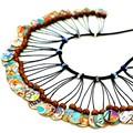 Original Collage Paper Art Necklace, Statement Necklace, Wearable Art