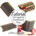 Corrugated Patterns TUTORIAL   Assemblage Parts   Craft DIY