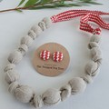 Fabric Knot Necklace + Fabric Stud Earrings