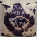 Black/ White Shibori Silk Cushion, ON SALE