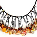 Statement Jewellery, Collage Paper Bead Necklace, Wearable Art   Muse Jewl   Aus