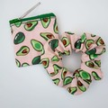 Avacardo coin purse,matching scrunchie set.