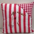 Red and White Cotton Cushion