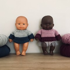 Knitted Merino Sweater for 21cm Miniland
