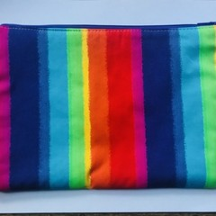 Rainbow stripes pencil case