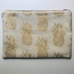Gold pineapples pencil case