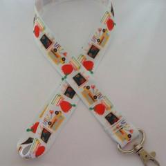ABC school teacher lanyard / ID holder /. badge holder