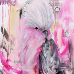 Marshmallow the Galah Print