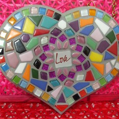 Mosaic 'Love' Heart
