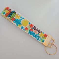 Surfing / surfboard key fob wristlet
