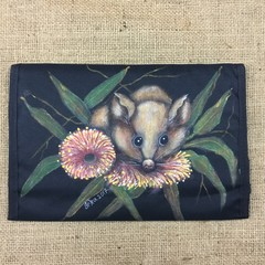 Handprinted Possum Gumnut Make-up Brush Holder