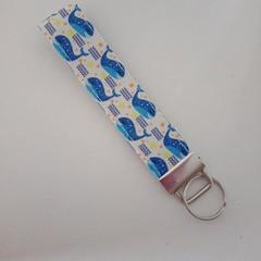 Whale key fob wristlet