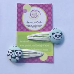 Panda  hair clips