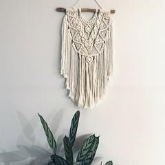 Cream wall hanging