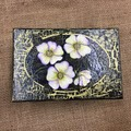Wooden Box Hand Painted with Folk Art Flowers