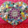 Mosaic 'Love' Heart