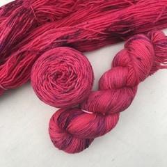 4ply handdyed Australian merino/nylon sock  390m 100g