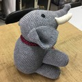 Big Grey Elephant, Amigurumi, Toy