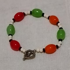 Orange and Red Bracelet
